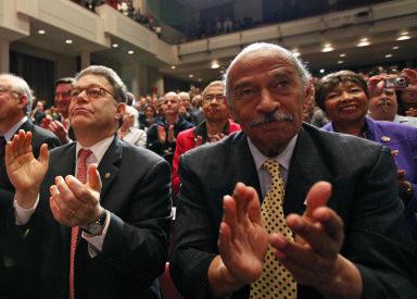 Barack Obama, John Conyers, Jr., Al Franken, Ken Salazar